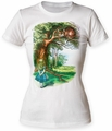 Alice's Adventures in Wonderland Which Way To Go juniors crew white womens pre-order