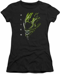 Alien juniors t-shirt Acid Drool black