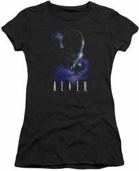 Alien juniors t-shirt In Space black