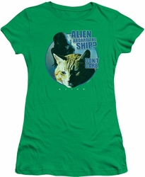 Alien juniors t-shirt Jonesy kelly green