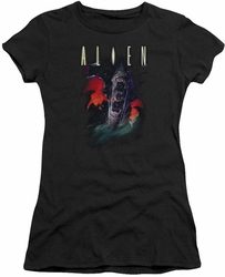 Alien juniors t-shirt Queen black