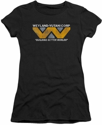 Alien juniors t-shirt Weyland black
