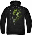 Alien pull-over hoodie Acid Drool adult black