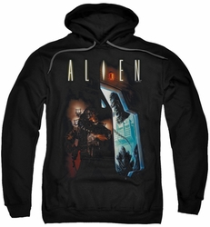 Alien pull-over hoodie Around The Corner adult black