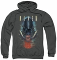 Alien pull-over hoodie Bloody Jaw adult charcoal