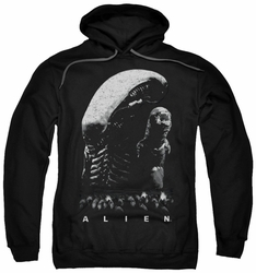 Alien pull-over hoodie Evolution adult black