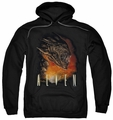 Alien pull-over hoodie Fangs adult black