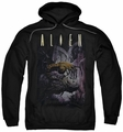 Alien pull-over hoodie Hugger adult black