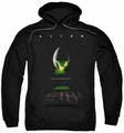 Alien pull-over hoodie Poster adult black