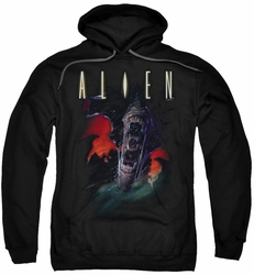 Alien pull-over hoodie Queen adult black
