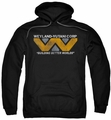 Alien pull-over hoodie Weyland adult black