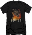 Alien   slim-fit t-shirt Fangs mens black