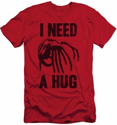 Alien   slim-fit t-shirt Need A Hug mens red