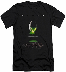 Alien   slim-fit t-shirt Poster mens black