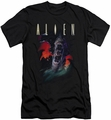 Alien   slim-fit t-shirt Queen mens black
