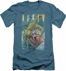 Alien   slim-fit t-shirt Slobber mens slate