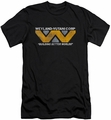 Alien   slim-fit t-shirt Weyland mens black