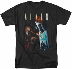 Alien t-shirt Around The Corner mens black