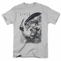 Alien t-shirt Decapitated mens silver