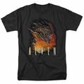 Alien t-shirt Fangs mens black