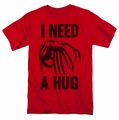 Alien t-shirt Need A Hug mens red