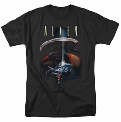 Alien t-shirt Planet mens black