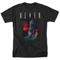Alien t-shirt Queen mens black