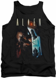 Alien  tank top Around The Corner mens black