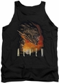 Alien  tank top Fangs mens black