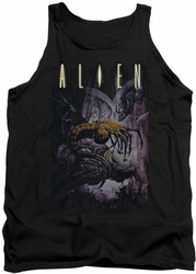 Alien  tank top Hugger mens black