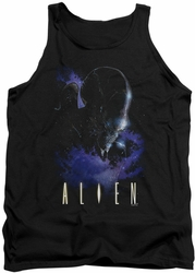 Alien  tank top In Space mens black