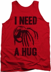 Alien  tank top Need A Hug mens red