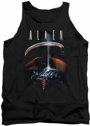 Alien  tank top Planet mens black