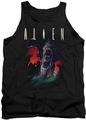 Alien  tank top Queen mens black