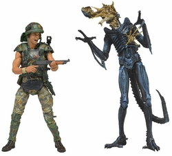 "Aliens 7"" action figure Hicks Vs. Warrior Two-Pack"