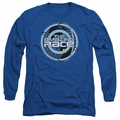 Amazing Race adult long-sleeved shirt Around The Globe royal