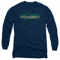 Amazing Race adult long-sleeved shirt Around The World navy