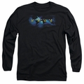 Amazing Race adult long-sleeved shirt Faded Globe black