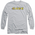 Amazing Race adult long-sleeved shirt Running Logo silver