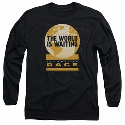 Amazing Race adult long-sleeved shirt Waiting World black