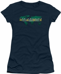 Amazing Race juniors t-shirt Around The World navy