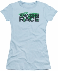 Amazing Race juniors t-shirt Race World light blue