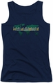 Amazing Race juniors tank top Around The World navy