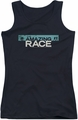 Amazing Race juniors tank top Bar Logo black