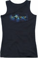 Amazing Race juniors tank top Faded Globe black
