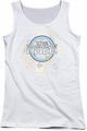 Amazing Race juniors tank top The Race white