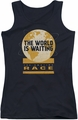 Amazing Race juniors tank top Waiting World black