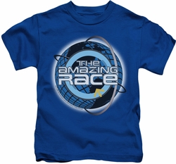 Amazing Race kids t-shirt Around The Globe royal