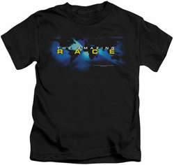 Amazing Race kids t-shirt Faded Globe black