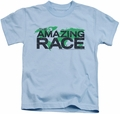 Amazing Race kids t-shirt Race World light blue